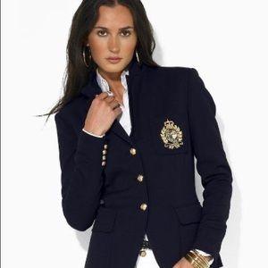 Ralph Lauren Crest Blazer Black 6